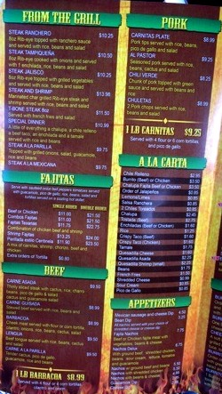 Centinela Mexican Restaurant Menu 2