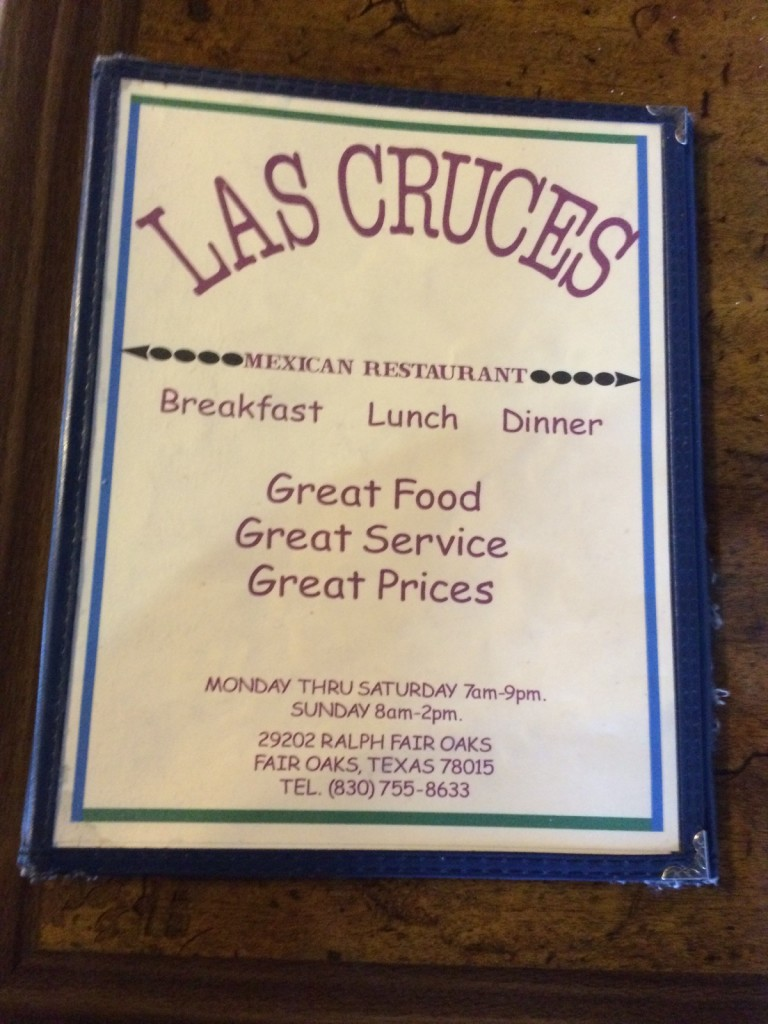 Las Cruces Mexican Restaurant Menu 1