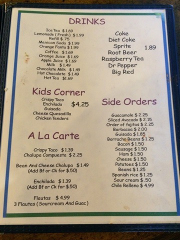Las Cruces Mexican Restaurant Menu 6