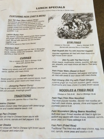 Sarikas Thai Cafe Boerne Menu 1